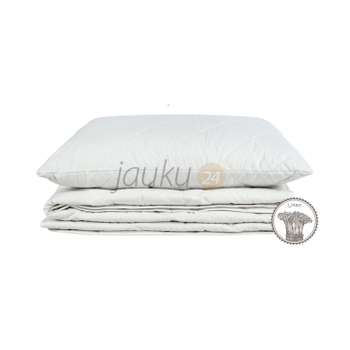 Lengva vasarinė antklodė su medvilnės- lino pluoštu (300 g/m²) 2