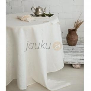 Balta lininė staltiesė