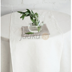 Baltas lininis stalo takelis