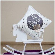 """Dekoratyvinė pagalvėlė """"Iki mėnulio ir atgal"""""""