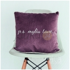 """Dekoratyvinė pagalvėlė """"p.s. myliu tave"""""""