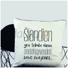 "Dekoratyvinė pagalvėlė ""Tobula diena"""
