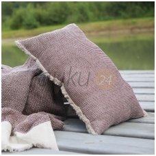 "Dekoratyvinės pagalvės užvalkalas ""Linen blue comfort"""
