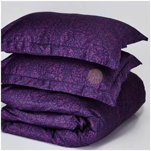 """Decoflux satino patalynės užvalkalai """"Papercut Purple"""""""