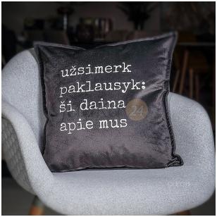 """Dekoratyvinė pagalvėlė """"Užsimerk - paklausyk"""""""
