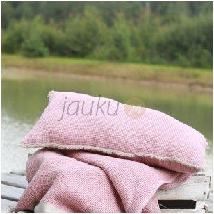 "Dekoratyvinės pagalvės užvalkalas ""Linen pink comfort"""