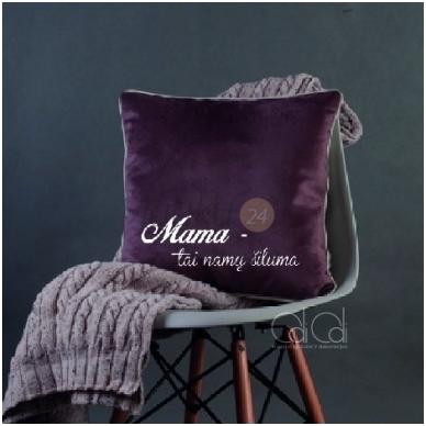 """Dekoratyvinė pagalvėlė """"Mama – namų šiluma"""""""