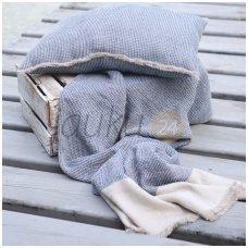 "Lininis pledas ""Linen blue comfort"""