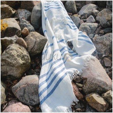 """Lininis paplūdimio rankšluostis """"Holidays light blue"""""""