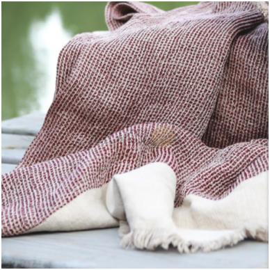 "Lininis pledas ""Linen burgundy comfort"" 2"