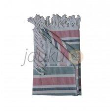 Medvilninė pirties skara Pink/Grey 90x180