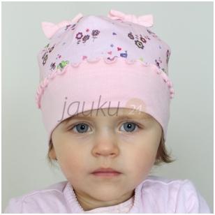 Medvilninė kepurytė mergaitei Pievų fėja