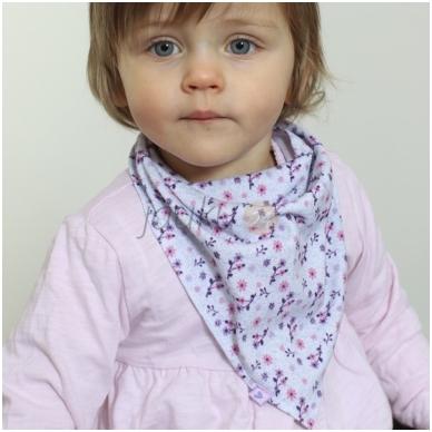 Medvilninė kaklaskarė mergaitei