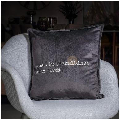 """Dekoratyvinė pagalvėlė """"Kalbanti širdis"""""""