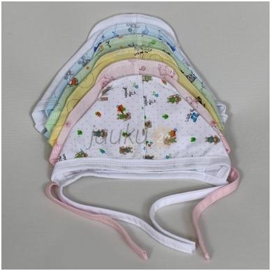 Plona, medvilninė kepurytė Vilaurita įvairių spalvų