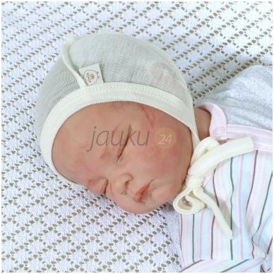 Plona merino vilnos kepuraitė kūdikiui 2