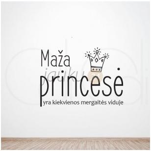 Sienos lipdukas mergaitės kambariui Maža princesė