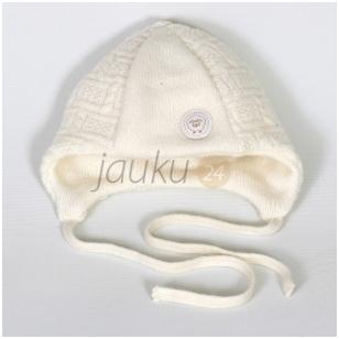 Šilta dviejų sluoksnių merino vilnos kepurė