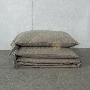 Siuvama natūralaus lino patalynė Aistis (natural brown)