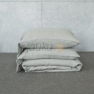 Siuvama natūralaus lino patalynė Aistis (natural white)