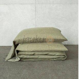 Siuvama natūralaus lino patalynė Antrum (natural khaki)