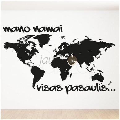 """Sienų lipdukas """"Pasaulis mano namai"""""""