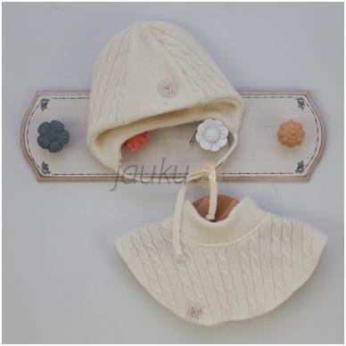 Šilta dviejų sluoksnių merino vilnos kepurė 3