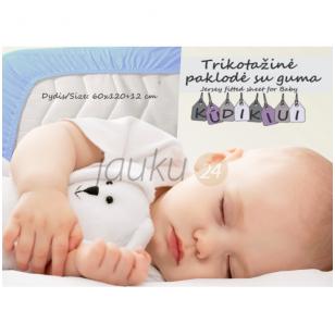 """Trikotažinė paklodė kūdikiui su guma """"Blue cloud"""""""
