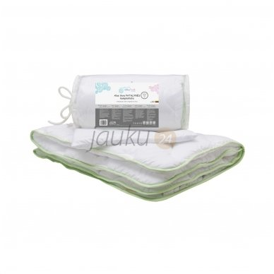 Universalus kūdikio antklodės ir pagalvės komplektas Aloe Vera su alavijų ekstraktu