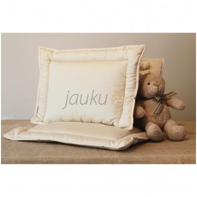 Rankų darbo vaikiška pagalvėlė su vilnos užpildu 3
