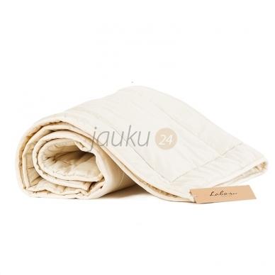 Vasarinė rankų darbo vilnos užpildo vaikiška antklodė (100x130 cm) 2