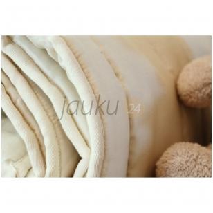 Žieminė rankų darbo vilnos užpildo vaikiška antklodė (100x130 cm)